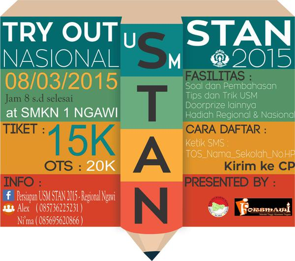 Try Out Stan Regional Ngawi