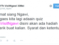 Kuis 1 Tahun Visit Ngawi