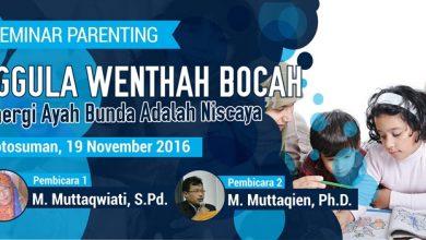 Photo of Seminar Parenting Nggula Wenthah Bocah