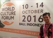 Dimas Gilang di Interational Forum