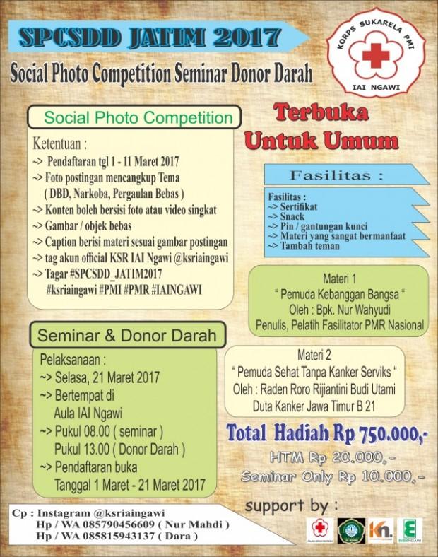 Sosial Photo Competition Seminar Donor Darah IAI Ngawi