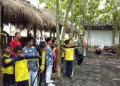 Outdoor Learning, SD Muhammadiyah Jogorogo Berlatih Memanah di SMPIT Harum