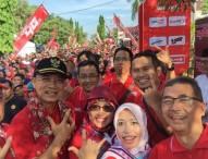Ribuan Warga Ikuti Jalan Sehat dan Launching Telkomsel 4G di Ngawi