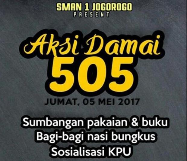 Aksi Damai Kelulusan 505 SMA 1 Jogorogo