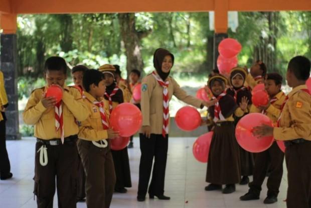 Keceriaan Implementasi K13 dalam Ekskul Pramuka SD Jeblogan 2