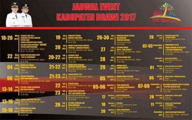 Inilah Jadwal Event di Ngawi Bulan Juli – November 2017