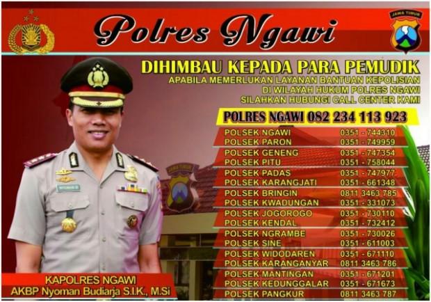 Perlu Bantuan Polisi Saat Mudik di Wilayah Ngawi, Ini Nomornya