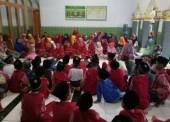 Keceriaan Santri TPA Masjid Baitul Ghoni Jelang Buka Bersama Wakil Bupati