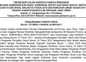 Seleksi Calon Anggota Panwas Kabupaten/Kota 2017