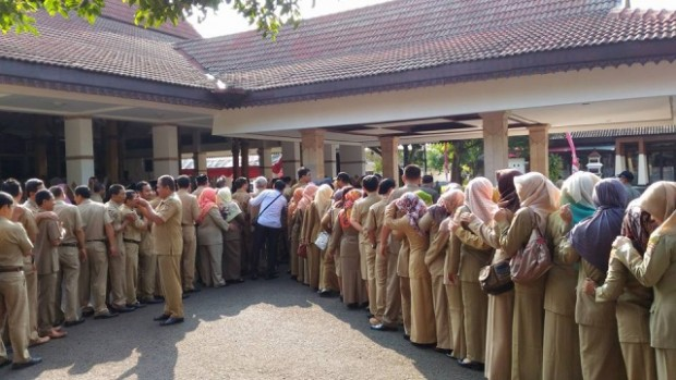 Ratusan PNS Ngawi Ikuti Halal Bihalal di Pendopo Wedya Graha