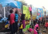 Jutaan Rupiah Diperrebutkan 11 Tim Peserta Lomba Mural Desa Jogorogo