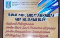 5 Hari Pasaran Dijadikan Jadwal Mobil Samsat Angkringan Keliling Ngawi
