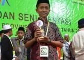 Mu'in Siswa SMPIT Harum Juarai MHQ Pentas PAI Jawa Timur