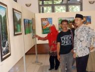 Disparpora Ngawi Gelar Pameran Lukis Perdana