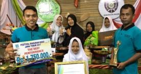 Ngawi Raih The Best Performance Dalam Festival Makanan Khas Jatim 2017