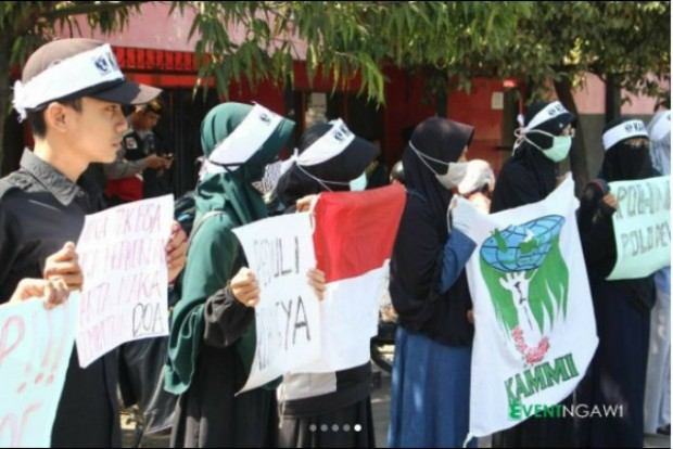 KAMMI Ngawi Gelar Aksi Peduli Rohingya