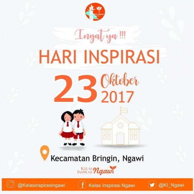 Relawan Kelas Inspirasi 3 Ngawi Disebar ke 8 SD di Kecamatan Bringin