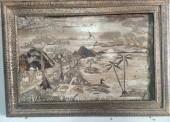 Sugeng Riyanto Mengubah Pelepah Pisang Menjadi Lukisan yang Unik dan Keren