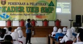 Kader UKS tingkat SMP di Ngawi Ikuti Pelatihan dan Pembinaan