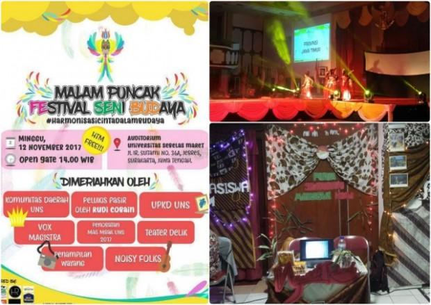 Forsmawi Presentasikan Potensi Wisata Ngawi di Malam Puncak Festival Seni Budaya UNS