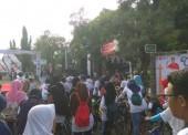 Suasana Gowes Pencanangan Hari Bersepeda Nasional di Ngawi