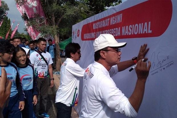 Masyarakat Ngawi Mendukung Hari Bersepeda Nasional