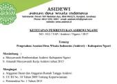 Kepengurusan Asidewi Kabupaten Ngawi Telah Ditetapkan Secara Sah dan Legal