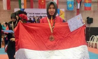 Machdarulla Putri Raih Medali Perunggu dalam TO'Al Asian Championship di Iran