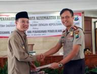 Pemkab dengan Polres Ngawi Tandatangani Nota Kesepahaman Bersama Terkait Pencegahan Penyimpangan, dan Penanganan Pengelolaan Dana Desa