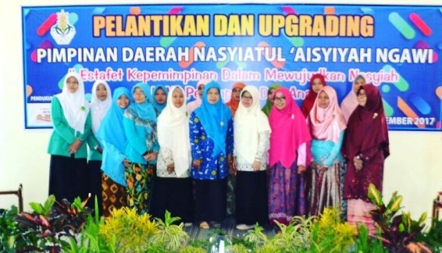 Pelantikan dan Upgrading Pimpinan Daerah Nasyiatul 'Aisyiyah Ngawi di Aula AR Fachruddin, SD Muhammadiyah 1 Ngawi, Minggu (03/12). Foto-Dok. Istimewa pwmu.co