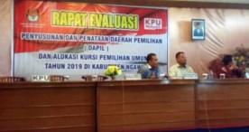 Rapat Evaluasi Penyusunan dan Penataan Dapil KPU Ngawi