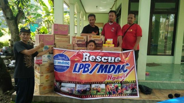 Tim Relawan Muhammadiyah Ngawi Kirimkan Relawan dan Bantuan ke Lokasi Bencana Pacitan. Foto. Dok. MDMC Ngawi