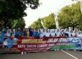 Ribuan Peserta Ikuti Jalan Sehat 1 Tahun Cabang Dinas Pendidikan Wilayah Ngawi