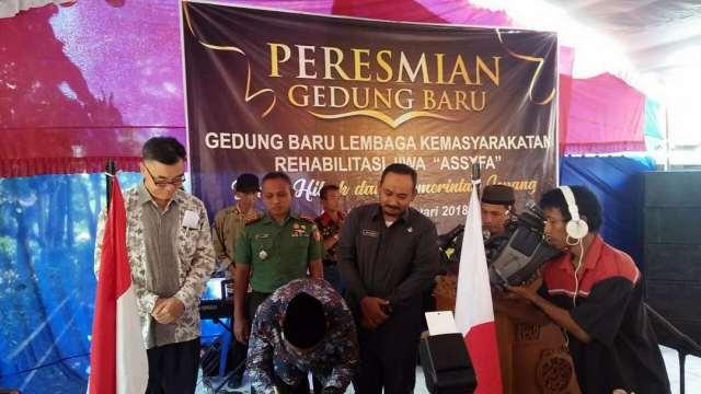 Peresmian Gedung Baru Pondok Assyfa yang mendapatkan Dana Hibah dari Konsulat Jendral Jepang di Surabaya oleh Wakil Bupati Ngawi, Senin (08/01/2017). Foto-Istimewa