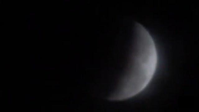 Detik-Detik Penampakan Gerhana Bulan dalam #SuperBlueBloodMoon di Ngawi, Rabu (31/01) . Foto-Capture Video
