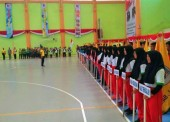 Gladi Pembukaan Kejurprov Bola Voly 2018 di Kabupaten Ngawi