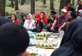 Puti Guntur Soekarno saat berkunjung di Wisata Selo Ondo, Minggu (04/02). Foto-Istimewa