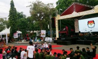 Gelar Seni Budaya Mataraman KPU Jatim Disambut Meriah Warga Ngawi