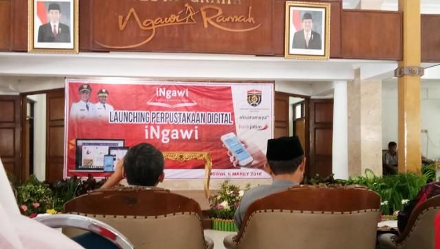 Launching Aplikasi Perpustakaan Digital INgawi, Selasa (06/03). Foto-Istimewa/Hanik Farida