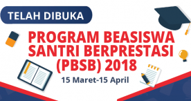Program Beasiswa Santri Berprestasi 2018