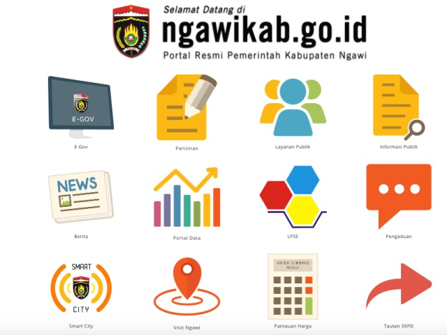 Tampilan baru web Ngawikab.go.id. Foto-Capture Website