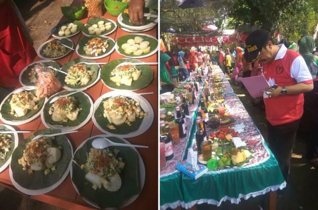 650 Porsi disiapkan dalam Bazar Tepo Kecap di Jati Gembol, Kedunggalar, Minggu (13/05). Foto-Istimewa/Alfa
