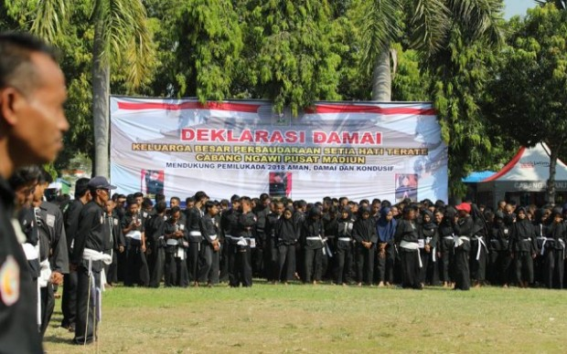 Ribuan Pendekar PSHT Ngawi Ikuti Deklarasi Damai Jelang Pilkada 2018