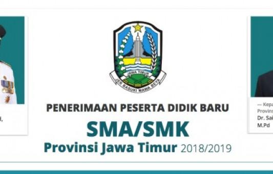 Jadwal Lengkap Pelaksanaan PPDB SMA/SMK Jatim 2018