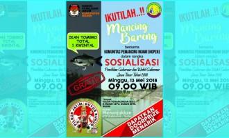 KPU Ngawi Sosialisasikan Pilkada Dengan Mancing Bareng