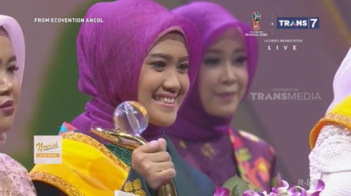 Riski Makarima menjadi peserta Terfavorit dalam Sunsilk Hijab Hunt 2018. Foto-Capture Live Streaming