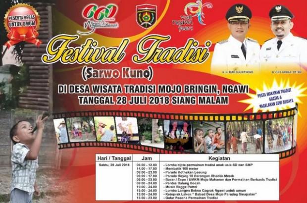 Festival Tradisi Sarwo Kuno Desa Wisata Tradisi Mojo Bringin