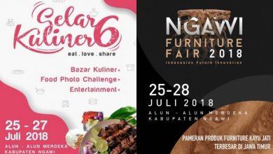 Photo of Jangan Lewatkan Semarak Gelar Kuliner dan Ngawi Furniture Fair 2018