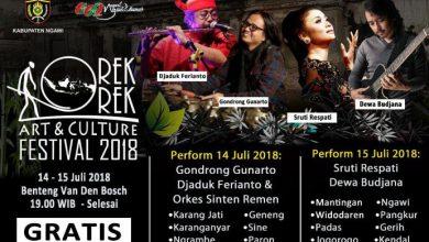 Photo of Orek-orek Art & Culture Festival 2018 Suguhkan Budaya dan Kuliner Ngangeni