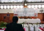 KPU Ngawi Sampaikan Rekapitulasi Hasil Perhitungan Suara Pilgub Jatim 2018